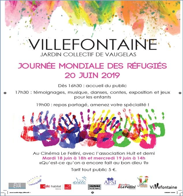 journéé mondiale réfugiés Villefontaine